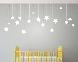 Aliexpress Com Buy 17pcs Hanging Stars Wall Stickers For Kids Room White Star Baby Nursery Wall De Baby Nursery Wall Decals Nursery Wall Decals Art Wall Kids
