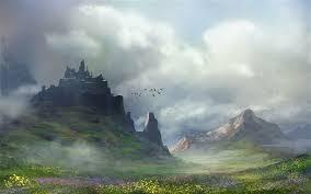 wallpaper art painting landscape