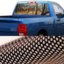 Deer Buck Sun Shade Pickup Truck Rear Window Decal Black Tint Sticker 65 X 22 8934688523884 Ebay