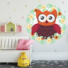 Shop Baby Owl Flowers Kids Full Color Wall Decal Sticker K 1253 Frst Size 30 X30 Overstock 21613202