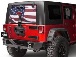 Sec10 Jeep Wrangler Perforated American Flag Rear Window Decal Full Color J105979 87 21 Jeep Wrangler Yj Tj Jk Jl