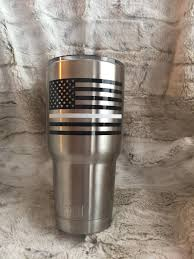 Yeti Rtic 30 Oz Cup Decal Thin White Line For Ems