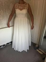 debenhams ivory wedding dress size 16