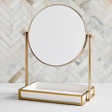 modern resin stone vanity mirror