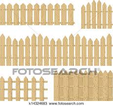 Wooden Fence Vector Clipart K14324683 Fotosearch