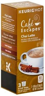 cafe escapes coffee chai latte k cup