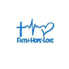 Faith Hope Love Car Decal Pluto99