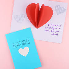 DIY Pop-Up Heart Mother's Day Card