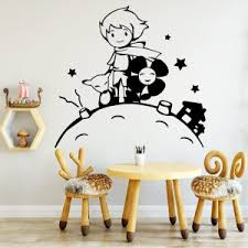 Cartoon Little Prince Vinyl Wall Sticker Home Decoration Wallpaper For Boys Girls Kids Room Bedroom Wall Art Decal Sticker Wallcorners Art Canvas