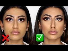 bulbous nose look smaller with makeup