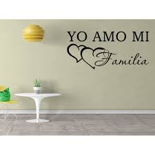 Vinilo Decorativo Para Pared Yo Amo Mi Familia Wall Stickers Decal Sq59 Walmart Com Walmart Com