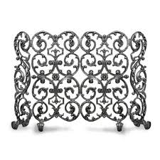 avalon 2 panel iron fireplace screen