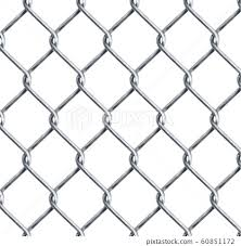 Realistic Chain Link Chain Link Fencing Stock Illustration 60851172 Pixta