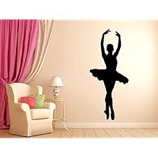 Amazon Com Dancer Ballerina Dance Wall Decal Vinyl Decor Wall Art For Kids Girls Room Bedroom Ballet Silhouette Sticker Baby