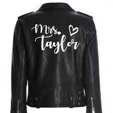 Custom Mrs Leather Jacket Iron On Heat Transfer Mrs Jacket Etsy