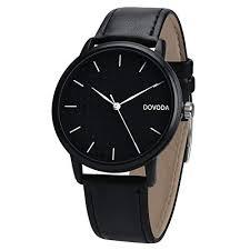 men s black leather watches com