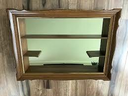 vintage shadow box mirror shelf framed