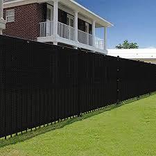 Amazon Com E K Sunrise 5 X 50 Black Fence Privacy Screen Commercial Outdoor Backyard Shade Windscreen Mesh Fabric 3 Years Warranty Customized Set Of 1 Garden Outdoor