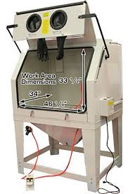 industrial sand blast cabinet 990l with
