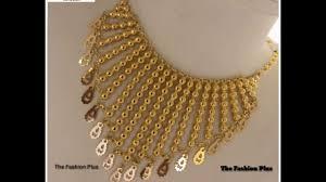 arabic gold choker designs gold choker