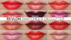 revlon lipstick swatches declutter