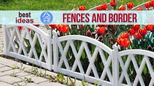 Beautiful Garden Ideas Decorative Fences And Border For Flower Beds Landscaping Youtube