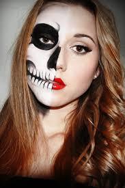 easy skeleton makeup half face