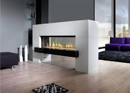 free standing double sided fireplaces