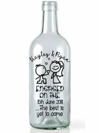 Wine Bottle Vinyl Decal Sticker Engagement Personalised Light Home Garden Gift Ebay