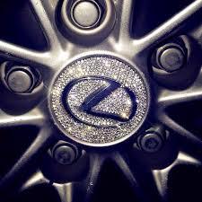 Bling Lexus Logo Stickers For Tire Wheel Center Caps Emblem Decal Made Carsoda