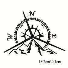 New Fashion Mountains Compass Rose Decal Nautical Compass Navigate Gas Tank Decal Car Sticker Black Silver Vinyl Buy At The Price Of 0 89 In Aliexpress Com Imall Com