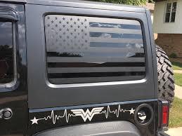 Jeep Flag Decals Jeep Jku Jk Wrangler Back Window American Etsy Back Window Decals Jeep Jku Flag Decal