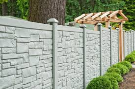 Simtek Ecostone Simulated Stone Fencing Divider Fencing Transitional Garden Vancouver By Innovation Fencing Inc