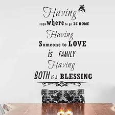 com wall sticker home art quotes family love blessing