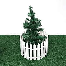 Garden Fence 12pcs Plastic Fence Decorations White Home Christmas Xmas Tree Ornaments Miniature Border Grass Lawn Garden Decor Color White Size Ones Amazon Co Uk Kitchen Home