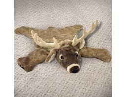 36in White Tailed Deer Plush Stuffed Animal Skin Rug