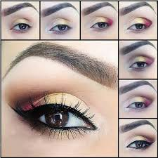 how to put makeup on eye step by step