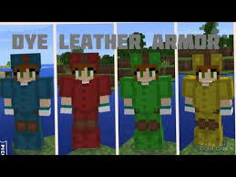 how to dye leather armor minecraft pe