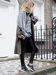 pair of black leather pants from j crew