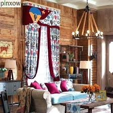 Boy Window Curtains Simple Marine Style Floral Fabric Sheer For Kitchen Bedroom Drapes New Year Curtain Cheaper Price Toqueglamour