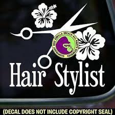 Hair Stylist Hibiscus Vinyl Decal Sticker Love Hairdresser Salon Car Window Sign Ebay