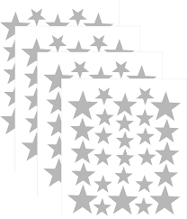 Amazon Com Wall Decals Silver Stars For Kids Room 3 4 5centimeter Mix 112 Pcs Easy To Peel Easy To Stick Safe On Walls And Paint Vinyl Decor By Bugybagy Home Kitchen