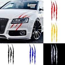Auto Car Sticker Reflective Monster Claw Scratch Stripe Marks Headlight Decal Car Stickers Geek