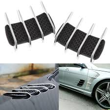 Xotic Tech 1 Set Car Custom Hood Side Flow Vent Fender Intake Grille Air Net Door Cover Decal Auto Stickers Walmart Com Walmart Com
