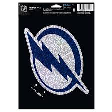 Tampa Bay Lightning Wincraft 5 X 7 Shimmer Decal