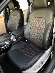 beige leather look car seat covers for