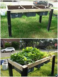 diy self watering veggie table garden