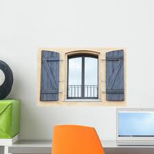 Stucco Window Wall Decal Wallmonkeys Com
