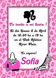 Barbie Tarjeta Invitacion Digital Imprimible Whatsapp 99 00 En