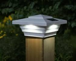 4 Pack 4x4 White Pvc Windsor Solar Post Cap Led Lights Fence Deck Low Profile Ebay